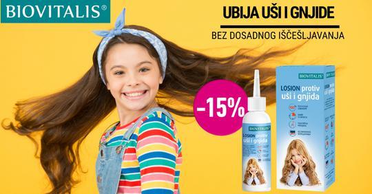 Biovitalis losion protiv ušiju i gnjida 100ml 15%