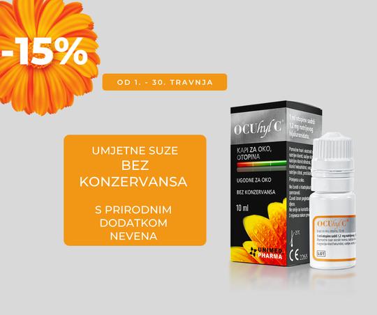 Ocuhyl C kapi za oči - 15%