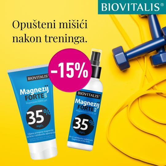 Biovitalis Magnezij FORTE gel i ulje 15%