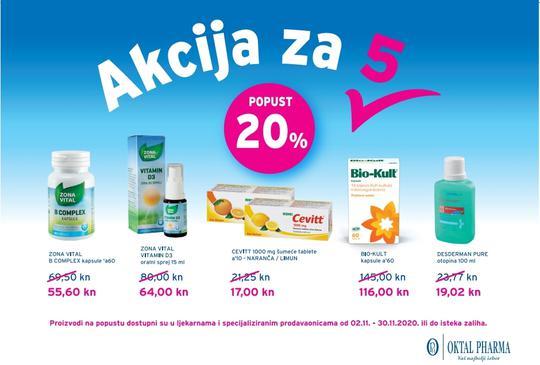 Oktal pharma akcija na određene proizvode.