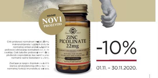 Solgar cink pikolinat 10%