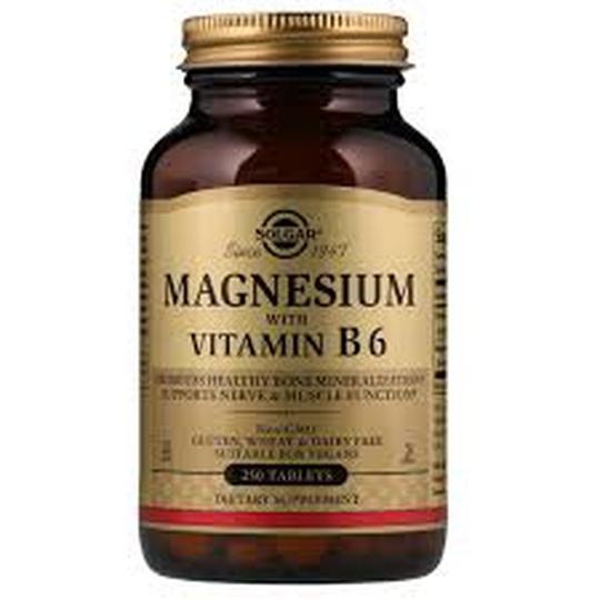 Solgar magnezij s vitaminom B6  100 tableta