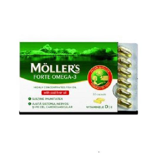 Mollers omega 3 forte kapsule 5X30