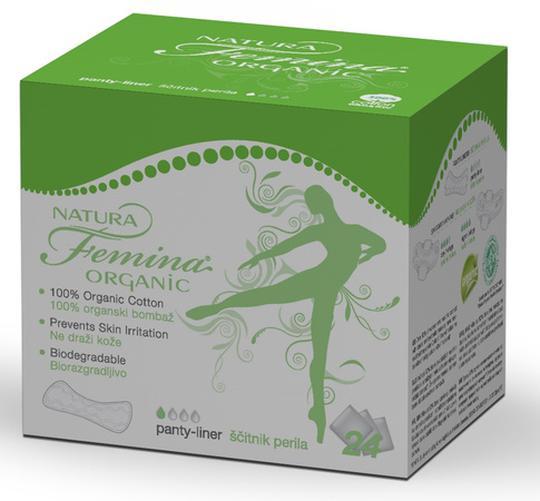 Ulošci Natura Femina Organic Slip, 24 uloška