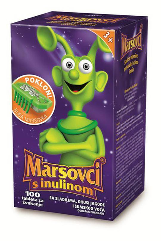 Marsovci, dječji vitamini s inulinom, 100 tableta