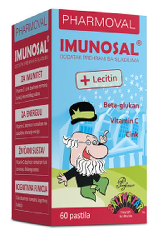 Imunosal beta glukan+lecitin pastile 60 kom