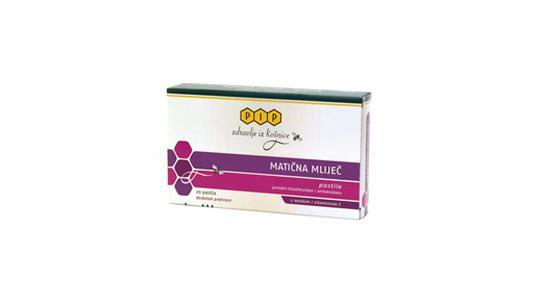Matična mliječ pastile s medom i vitaminom C, 20 pastila