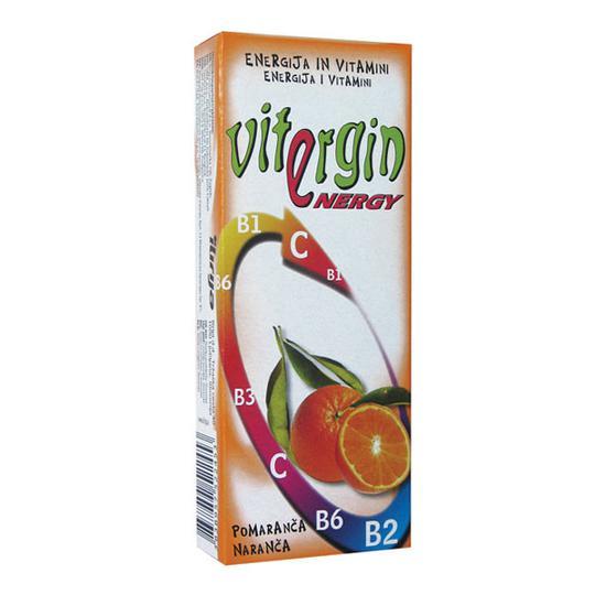 Vitergin naranča, voćni bombon s vitaminima, 24 g