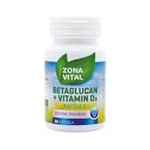 Zona vital beta glukan+vitamun D 60 kapsula