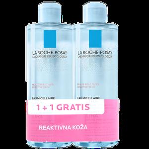 La Roche-Posay micelarna otopina reaktivna koža 400 ml 1+1 gratis