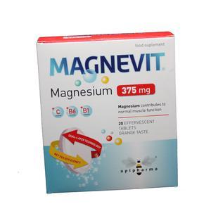 Magnevit šumeće tabete 375 mg   20 tableta