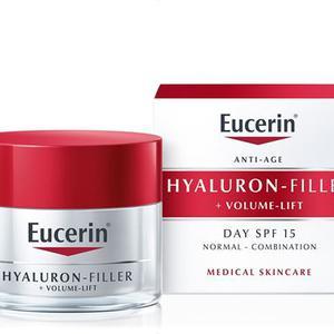Eucerin Hyaluron+volume filler krema n/m koža SPF15  50 ml