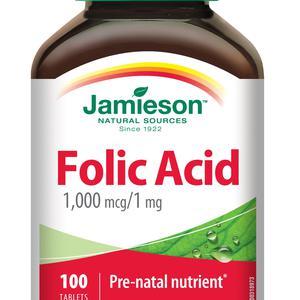 Jamieson folna kiselina 1 mg  100 mg