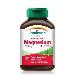 Jamieson magnezij 500 mg+ D3 60 tableta