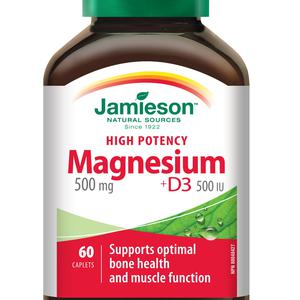 Jamieson magnezij 500 mg+ D3   60 tableta