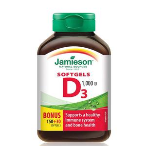 Jamieson vitamin D3 180 kapsula
