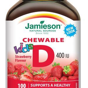 Jamieson vitamin D3 dječji za žvakanje 100 tableta
