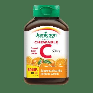 Jamieson vit.C 500 mg za žvakanje naranča 120 tableta