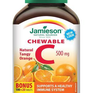 Jamieson vit.C 500 mg za žvakanje naranča 120 mg