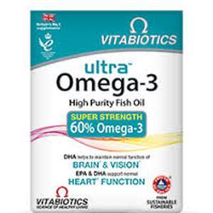 Vitabiotics ultra omega 3 high  60 gel kapsula