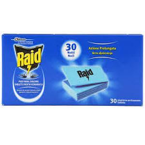 Raid laminirane tablete za električni aparat 30 kom