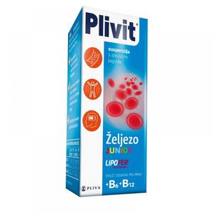 Plivit željezo junior suspenzija 120 ml
