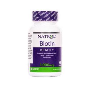 Natrol Biotin 1000 mg (kosa, koža, nokti) 100 tableta