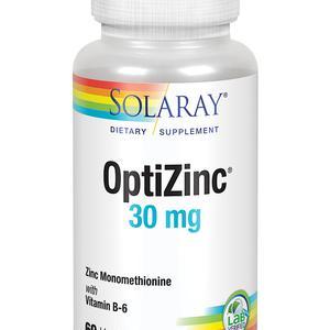 Solaray OptiZinc 30 mg (+ B6 20mg) x 60 kapsula
