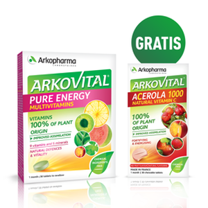 Arkopharma pure energy 30 tableta + Acerola gratis