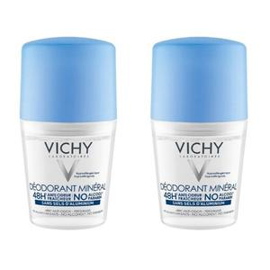 Vichy deo roll-on mineral 48h 50ml duo 50% promo