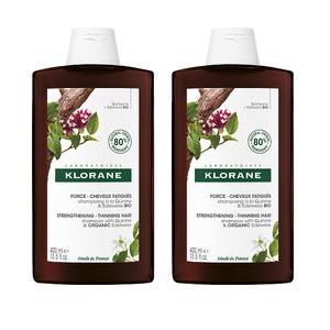 Klorane kinin i organski runolist šampon 400 ml DUO