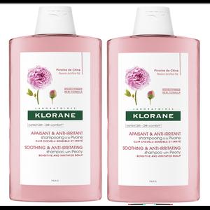 Klorane božur šampon 400 ml DUO