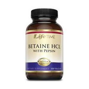 LifeTime Betaine HCL + Pepsin vege  100 kapsula