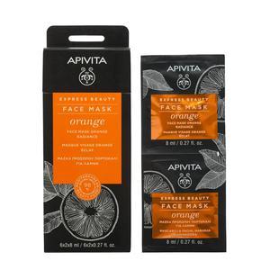 Apivita express beauty maska naranča 2X8 ml
