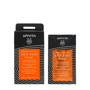 Apivita express beauty maska za kosu naranča 20 ml