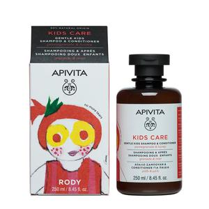 Apivita kids šampon nar i med 250 ml
