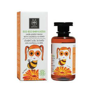 Apivita BIO dječji šampon za kosu i tijelo neven i med 200 ml