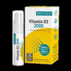 Biovitalis vitamin D3 2000 oralni sprej 20ml