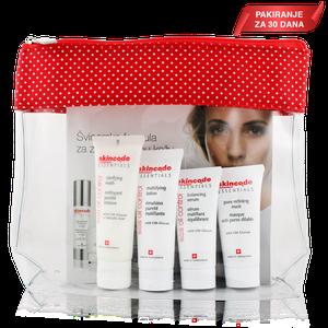 Skincode essentials start paket SOS control (gel25ml + serum 15ml + losion 25ml + maska pore 15ml)