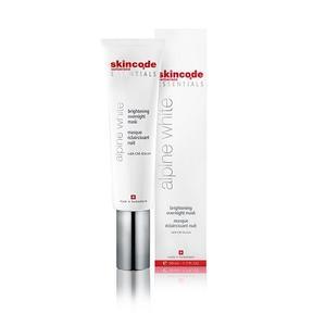 Skincode essentials Alpine White maska za posvjetljivanje kože za noć 50ml