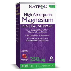 Natrol magnezij 60 tableta za žvakanje