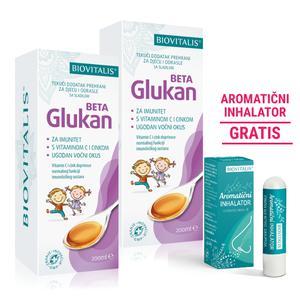 Biovitalis beta glukan DUO 200ml + aromatični inhalator