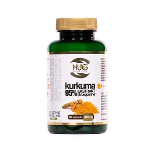 HUG kurkuma 95% ekstrakt i Bioperine 60x40mg