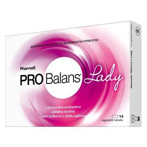 Probalans lady PharmaS, 14 vaginalnih tableta