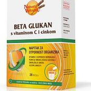 Natural Wealth Beta Glukan s Vitaminom C i cinkom, 20 vrećica