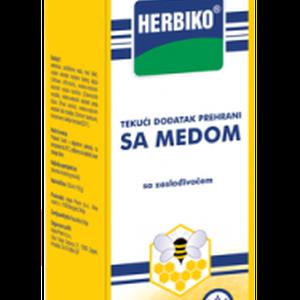 Herbiko sa medom tekući dodatak prehrani, 125 ml
