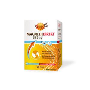 Natural Wealth magnezij 375 direkt 20 vrećica