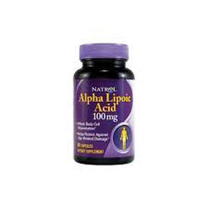 Natrol aplha lipoic acid 100 mg  60 kapsula