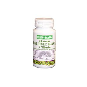 Darvitalis ekstrakt zelene kave + biotin 60x500 mg