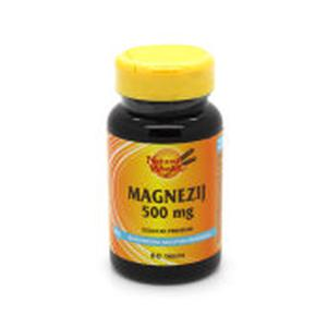 Natural Wealth magnezij 500 mg 60 tableta